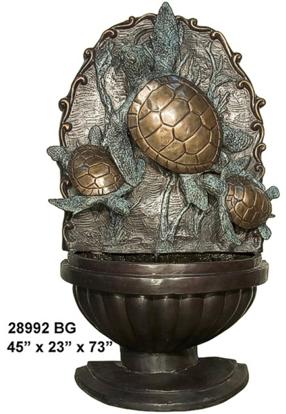 Bronze Turtle Wall Fountain - AF 28992 BR