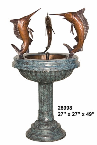 Bronze Sailfish Fountain - AF 28998