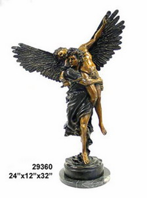 Bronze Men Wings Statue - AF 29360