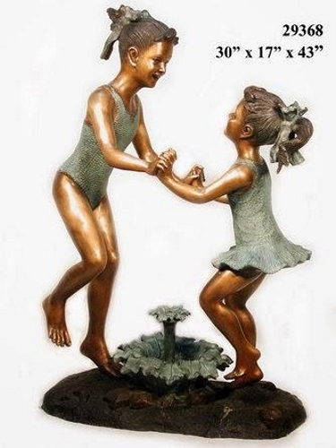 Bronze Girls Fountain - AF 29368