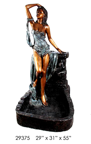 Bronze Sexy Lady Water Fountain
