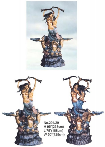 Bronze Mermaid Statues - BB 294-29-S