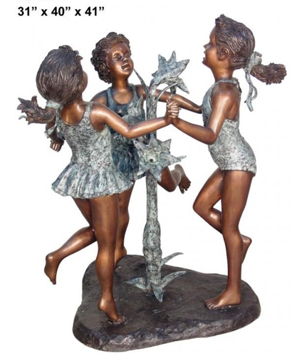Bronze Girls Fountains