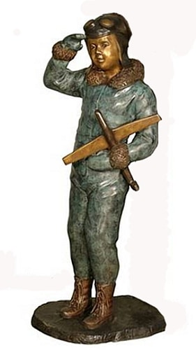 Bronze Pilot Aviator Statue - AF 29460S