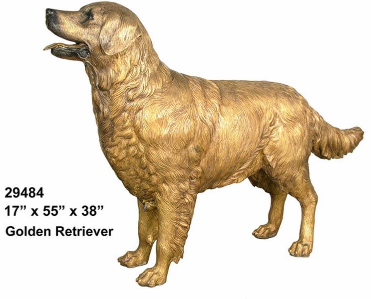 Bronze Golden Retriever Statue - AF 29484