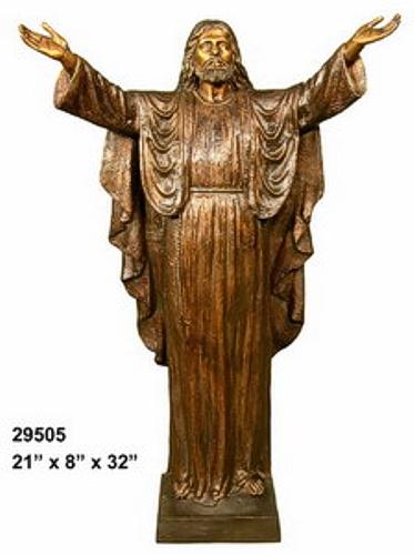 Bronze Jesus Statue - AF 29505