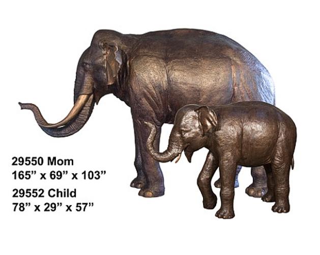 Bronze Elephant Statue - AF 29550-52