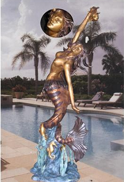 Bronze Mermaid Statues - BB 339/27 S