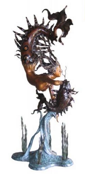 Bronze Mermaid Statues - BB 345/12-S