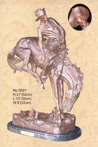 Frederic Remington Outlaw Statue - BB 352/1