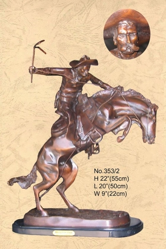 Frederic Remington Bronco Buster Bronze Statue - BB 353/2