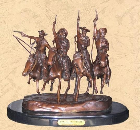 Frederic Remington Coming thru the Rye Statue