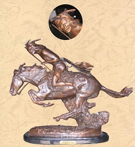 Bronze Remington Cheyenne Statue