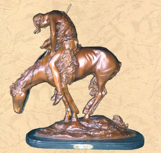 Frederic Remington Bronze End of the Trail Statue