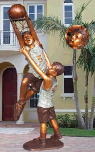 Bronze Boys Basketball Statue - KT 375-12