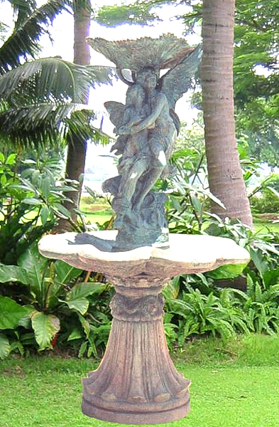 Bronze Man & Lady Tiered Fountain - BB 40-12