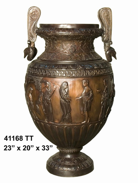 Bronze Egyptian Urns