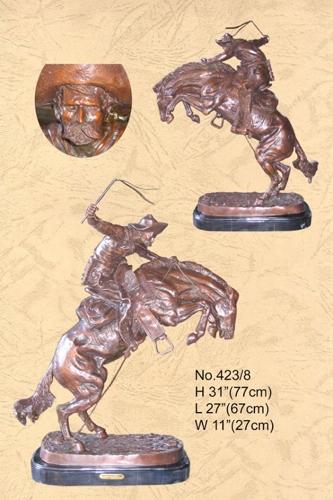 Frederic Remington Bronze Bronco Buster Statue