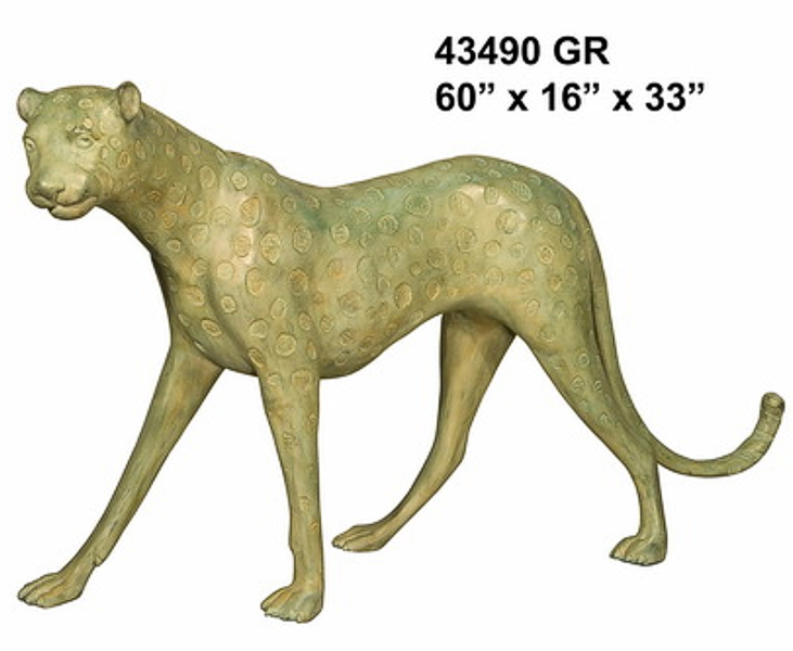 Bronze Cheetah Statues - AF 43490GR