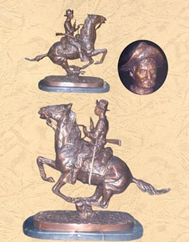 Frederic Remington Bronze Trooper Plains Statue