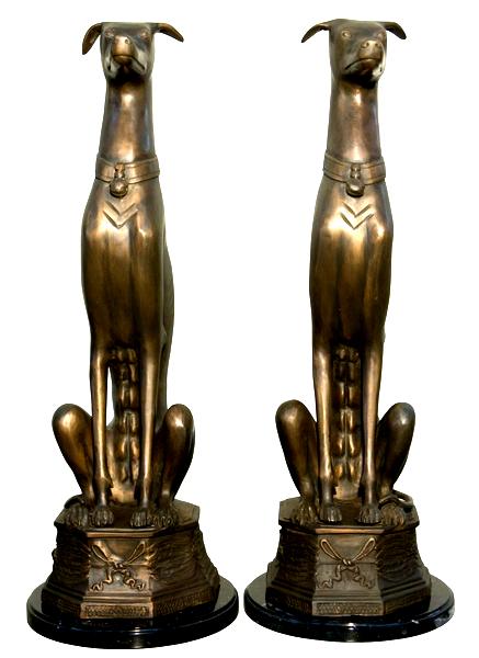 Bronze Whippet Statues - AF 43871M LB