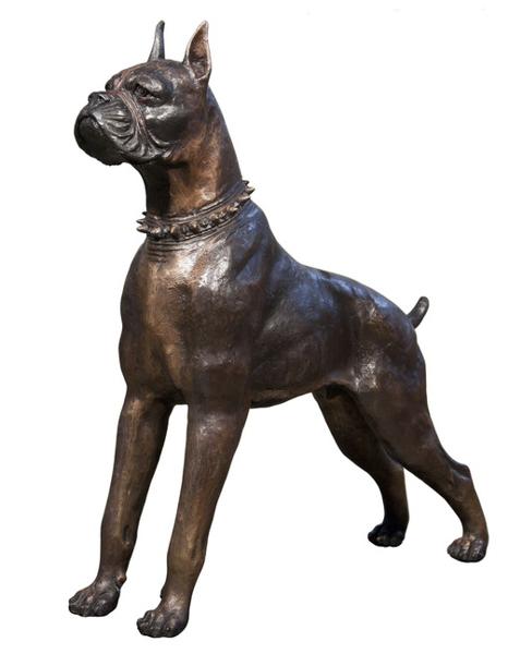 Bronze Boxer Statue - AF 43909