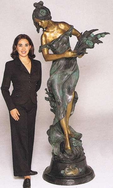 Bronze Lady Wheat Statue - ASB 468MO