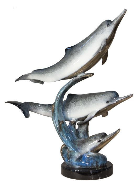 Bronze Dolphin Statue - AF 47003NC