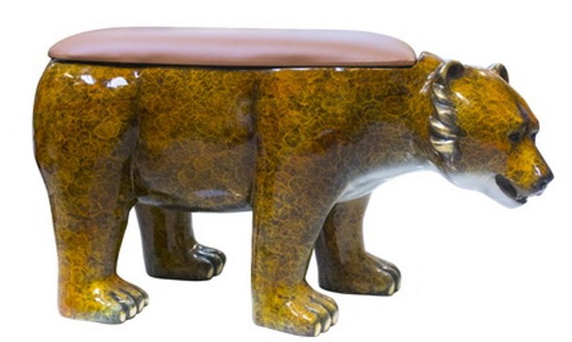 Bronze Bear Bench - AF 47028NA