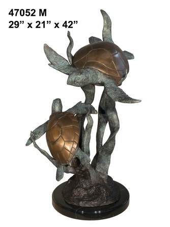 Bronze Turtles Fountain - AF 47052M-F