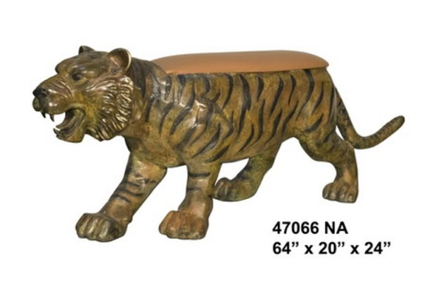Bronze Tiger Benches