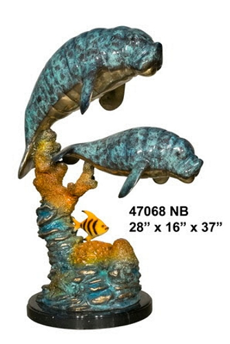 Bronze Manatee Statues - AF 47068NB