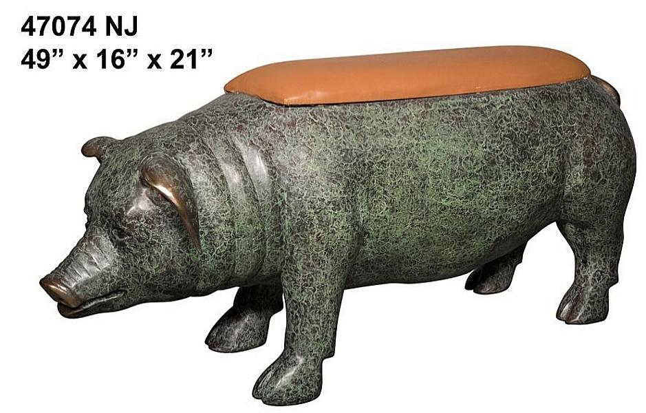 Bronze Pig Benches - AF 47074 NJ