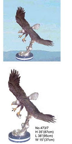 Bronze Eagle Statues - KT 473/7