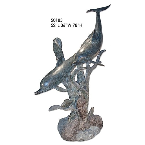 Bronze Dolphins on Reef Fountain (Choice of color) - AF 50185