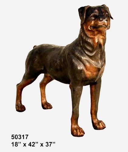 Bronze Rottweiler Statue - AF 50317