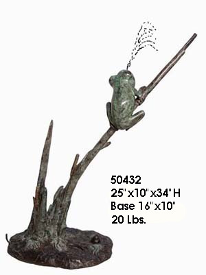 Bronze Frog Statue - AF 50432-S