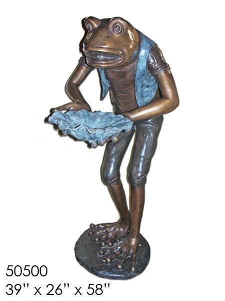 Bronze Frog Statue - AF 50500-S