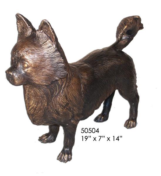 Bronze Dog Statue - AF 50504