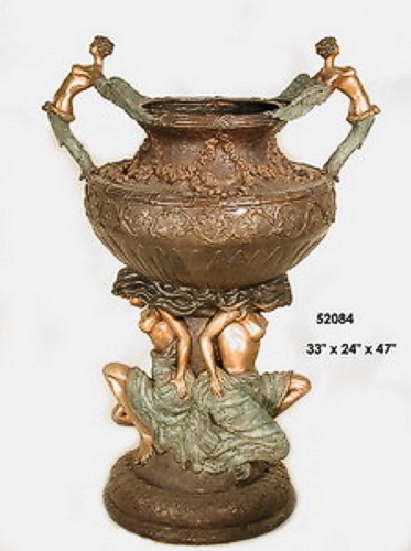 Bronze Naked lady Urn