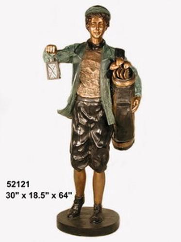 Bronze Caddie Lantern Statue - AF 52121