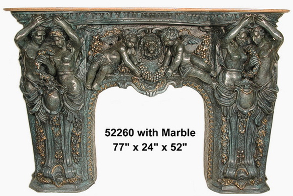 Bronze Fireplace Surround