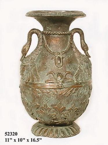 Bronze Urn Swan Handles