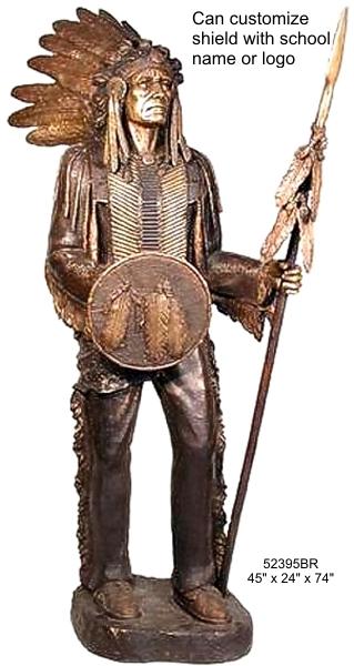 Bronze Indian Chief Statue - AF 52395 BR