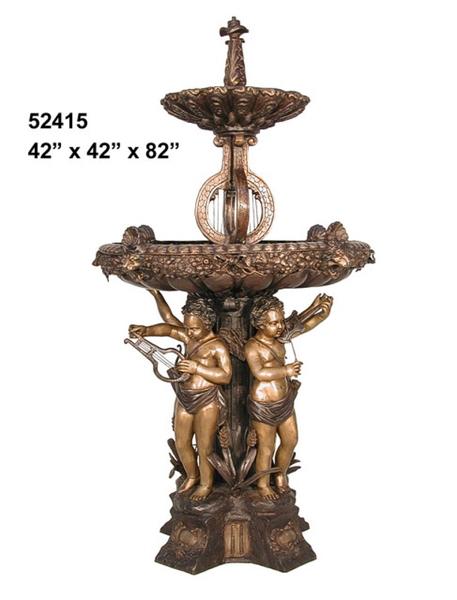 Bronze Cherubs Musical Fountain - AF 52415