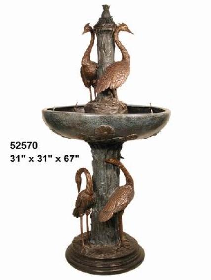 Bronze Crane Fountains - AF 52570