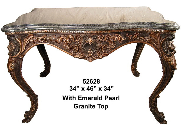 Bronze Lions Console Table - AF 52628