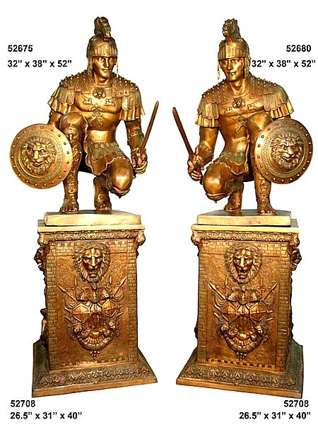 Bronze Roman Soldier Statues - AF 52675-80-708