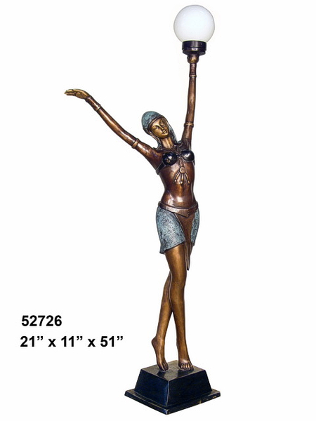 Bronze Lady Torchiere Lighting - AF 52726