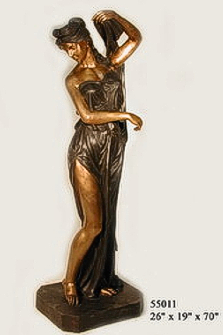 Bronze Lady Urn Statue or Fountain - AF 55011